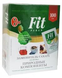 Заменитель сахара, Фит Парад 0.5 г №100 №10 на основе природных компонентов со стевией саше