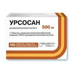 Урсосан, табл. п/о пленочной 500 мг №10