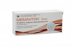 Мемантин по цене от 475,40 рублей, купить в аптеках Омска, табл. п/о пленочной 10 мг №30 Не указано (Мемантин)